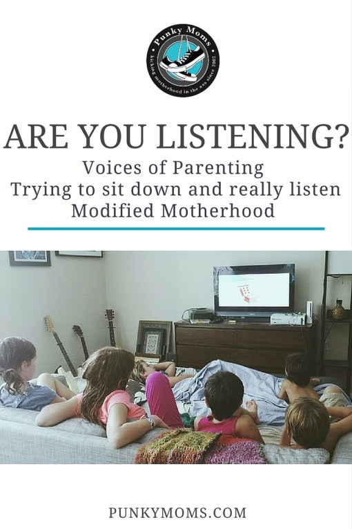 Listening to your kids is important. In this Voices of Parenting Feature, Jenn from Modified Motherhood  dives into the topic of how much are we actually listening