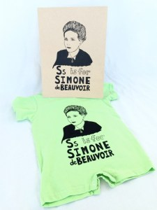 Simone Beauvoir - Grow Wild Studio is a fantastic shop ran by a super cool mama. Her feminist kid clothes are aaaaaaamazing