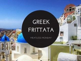 Greek Frittata - an easy vegetarian dinner to make for Meatless Monday.