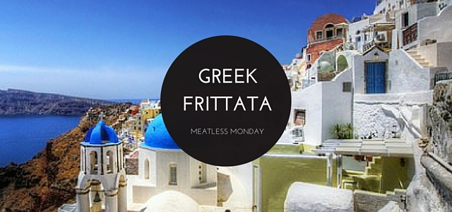 Greek Frittata - an easy vegetarian dinner to make for Meatless Monday.