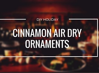 easy cinnamon air dry ornaments