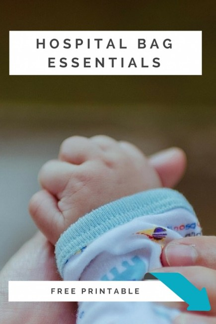 What are you supposed to pack in your hospital bag? Get a free printable of the absolute real life essentials at Punkymoms.com!