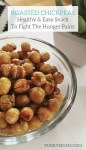 Roasted chickpeas are an easy, healthy snack to make when you want to fight those hunger pains. So many options you can make of this yummy treat.