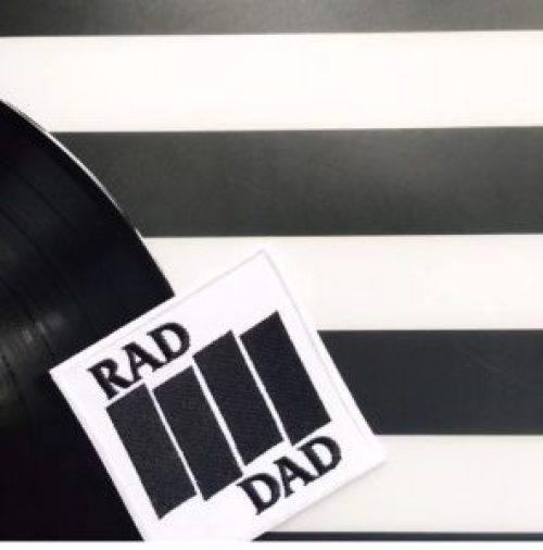 The Perfect Punk Gifts For the Punky Dads In Your Life - Rad Dad Black Flag patch by Punky Moms