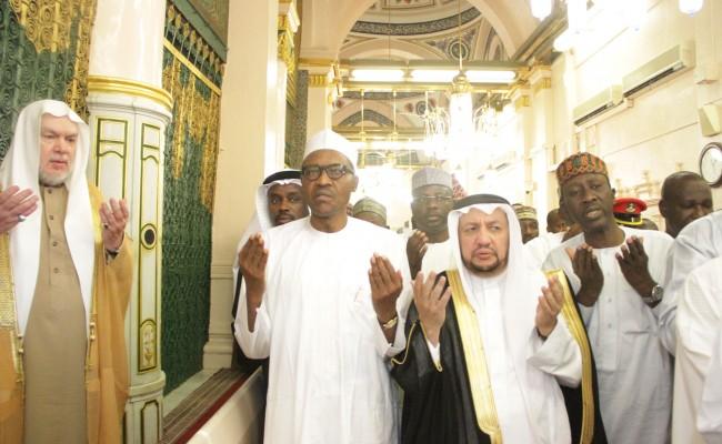 Behind the scenes: Buhari's prayers in Medina