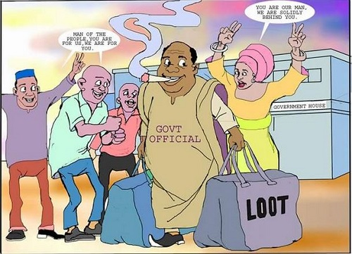 """We grow by looting"": Replying a Nigerian in Diaspora"