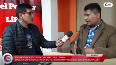Aduviri priorizará Puno y no dará agua para Arequipa y Tacna
