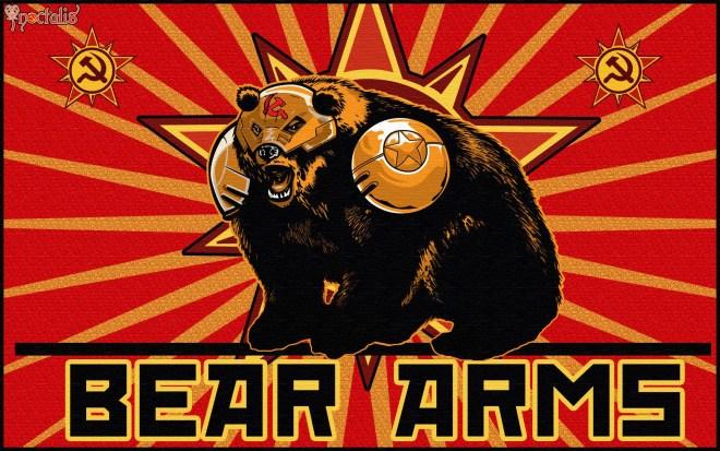 bear arms, bare arms, bear puns