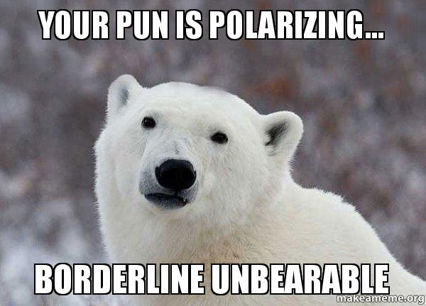 borderline unbearable, bear puns