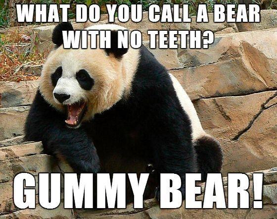 gummy bear, bear pun joke, meme