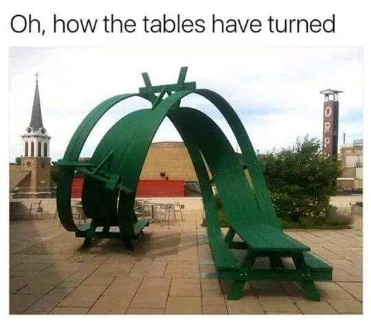 table pun (visual)