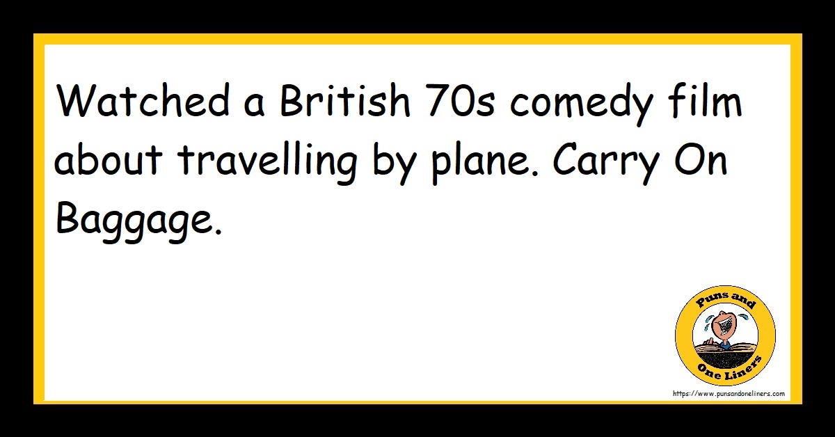 Watched a British 70s comedy film about travelling by plane. Carry On Baggage.