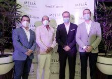 Jair Palacios, Ernesto Veloz, Santiago Rivera y Markus Haack durante la fiesta de reapertura