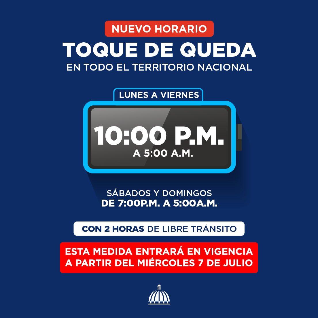 Gobierno Dominicano Modifica Toque De Queda Se Actualizara Por Porcentaje De Vacunacion Segun Region Online Punta Cana Bavaro