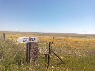 Cercanías del embalse - cartel del cordel