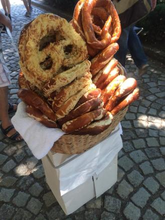 Pretzel vendors on the streets
