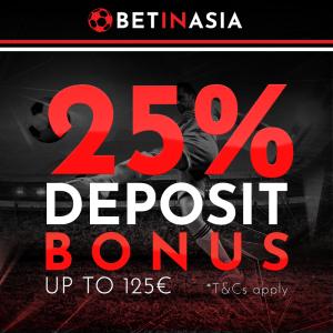 BetInAsia — €125 Bonus