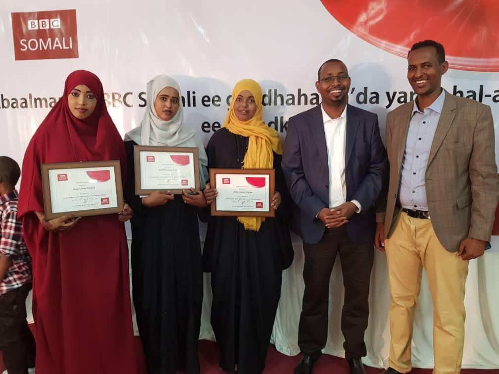 Garowe:-Bbc Somali oo Abaalmarin gudoonsiisay 3 hablood oo ku tartamay Gabayo.