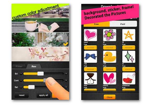 Picq, crear collages de fotos  desde Android