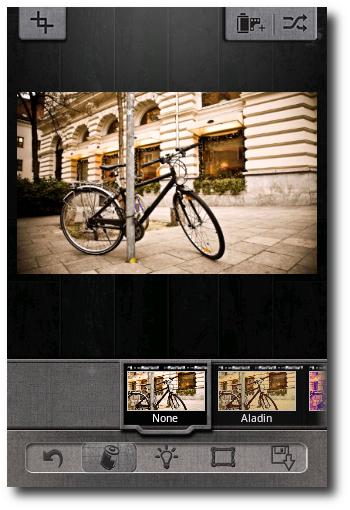 Interfaz Pixlr-o-matic
