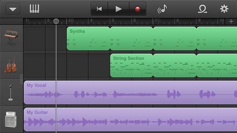 GarageBand iOS con soporte para AudioBus
