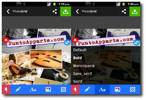 opción guardar en Collage Maker