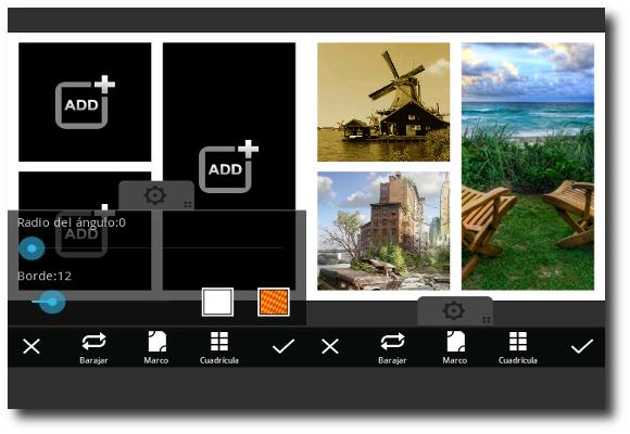 Sección Collage en PicsArt-Estudio