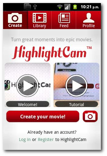 películas de alta calidad con HighlightCam Social