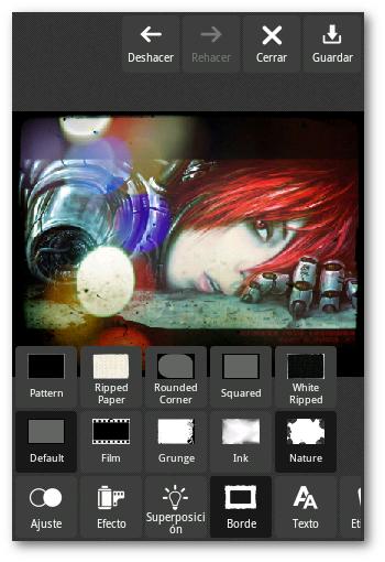 Herramientas editor de imagenes Pixlr android