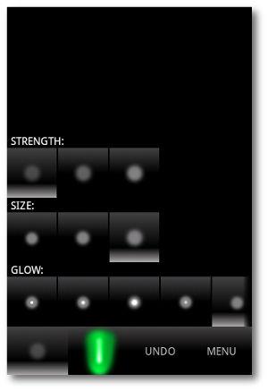Interfaz de usuario Glow Android
