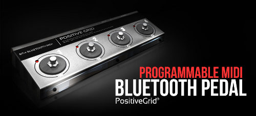 pedales controladores MIDI Bluetooth PositiveGrid
