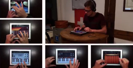Comfortably Numb de pink floyd usando la aplicación de música GarageBand