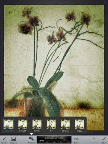 filtros en Tutorial Snapseed iPad