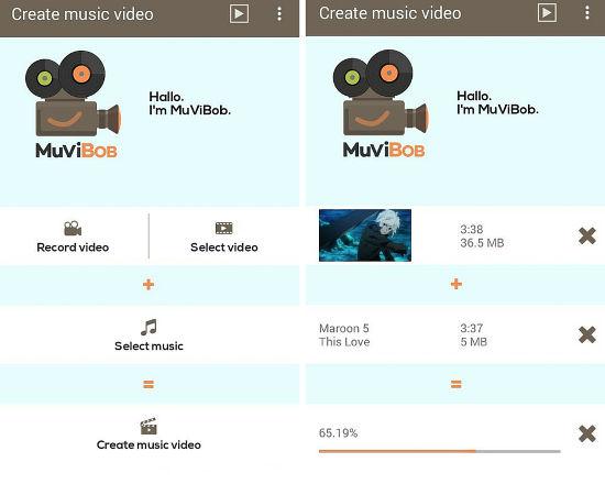 crear videos con musica