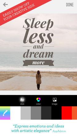 Word Swag una de las mejores aplicaciones para crear imagenes con texto