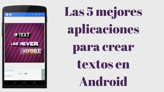 portada mejores aplicaciones para crear textos
