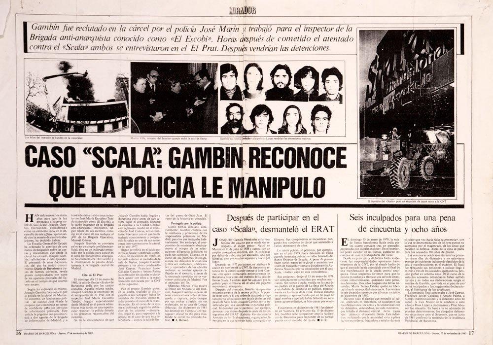CASO SCALA»: TERRORISMO DE ESTADO CONTRA CATALUNYA. «Somos Españoles, no Castellanos» – Punto Crítico Derechos Humanos