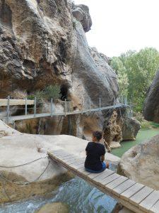 Foto del final de la Senda fluvial de la Hoz Mala, Aliaga