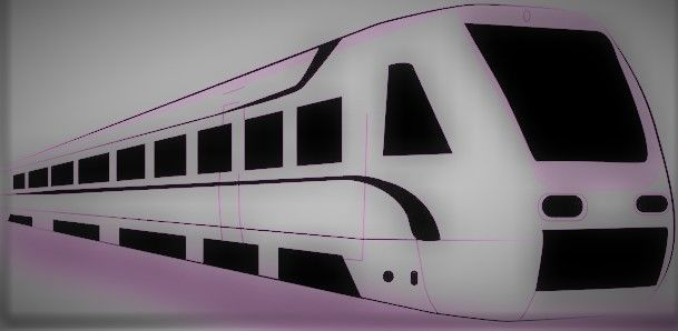 immagine di un treno stilizzato
