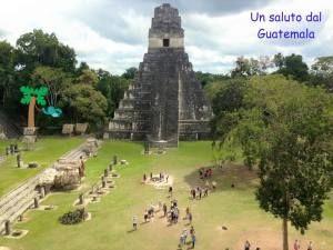 esempio cartolina guatemala piramide di tikal