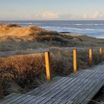 accesso al mare di syt tramite scala in legno