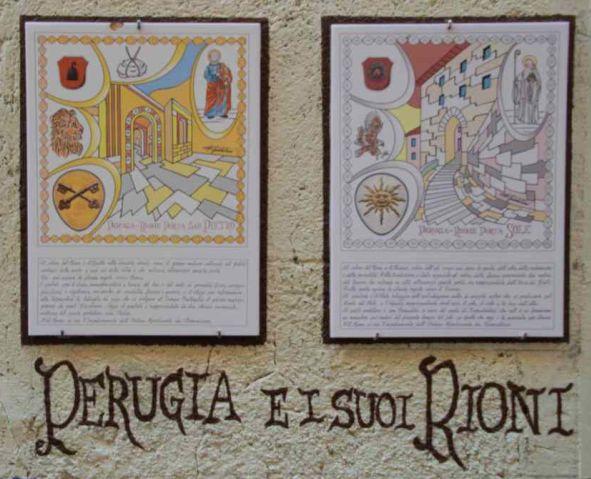 scritta sul muro perugia e i suoi rioni