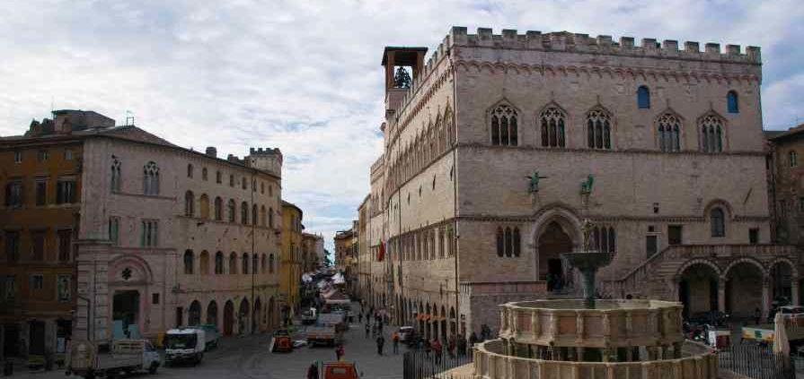 perugia e la sua piazza principale