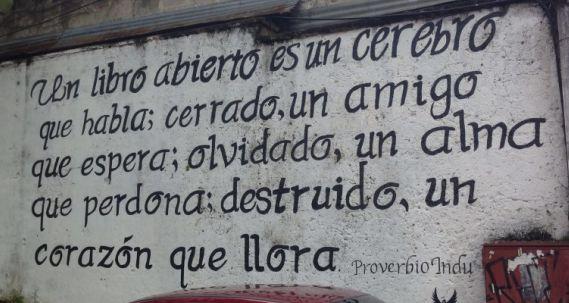 scritta in spagnolo per illustrare l'articolo corso di spagnolo in guatemala