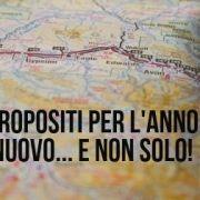 una cartina e la scritta propositi viaggio e non solo