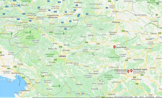 cartina completa della slovenia