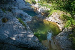 piscina naturale nei cadini del brenton