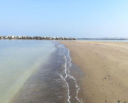 Da Viserba a Rimini centro attraverso la spiaggia