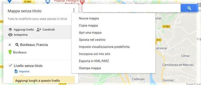 Altri pulsanti di Google my Maps