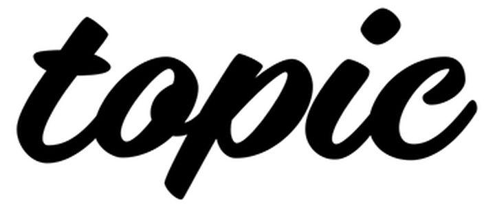 scritta topic nera su sfondo bianco